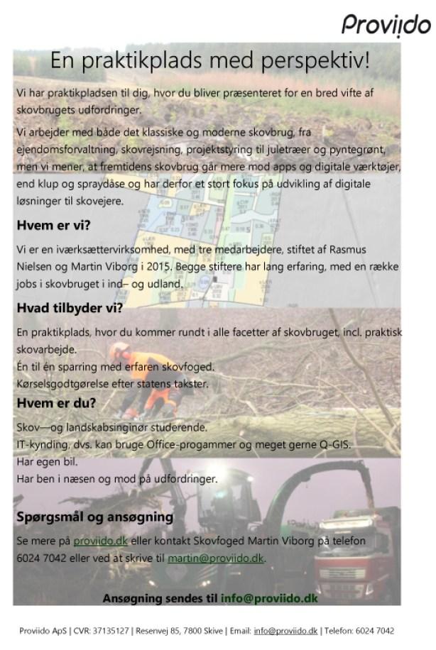 Skov- og landskabsingeniør (praktikplads)