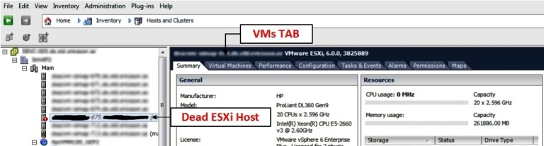 How to move your VMs from a dead ESXi host