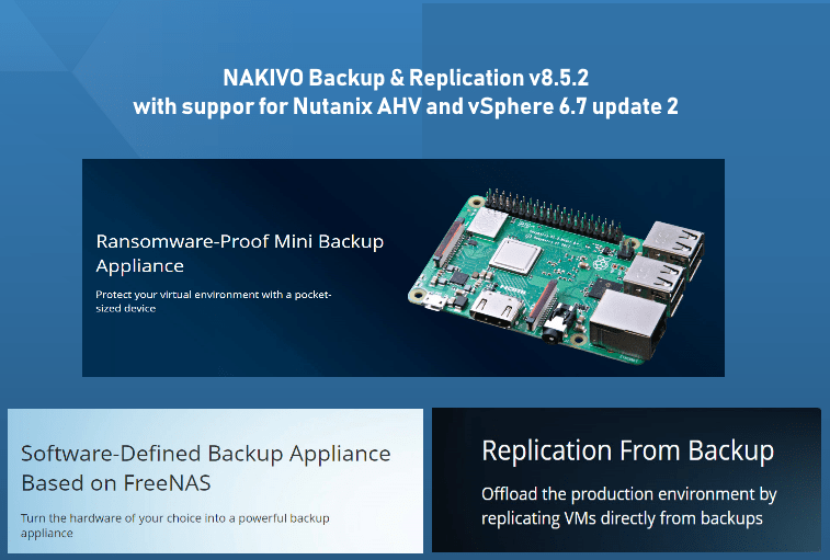 NAKIVO Backup & Replication v8 5 2 with VMware vSphere 6 7