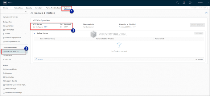 A step by step how to Backup and Restore NSX-T v3.0