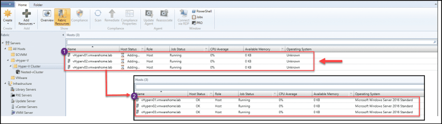 How to add and config Hyper-V hosts and Clusters in SCVMM 2019