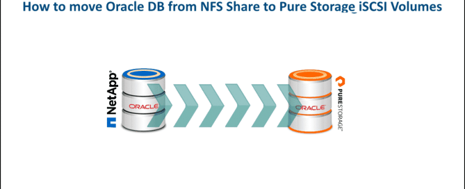 How to move Oracle DB from NFS Share to Pure Storage iSCSI Volumes