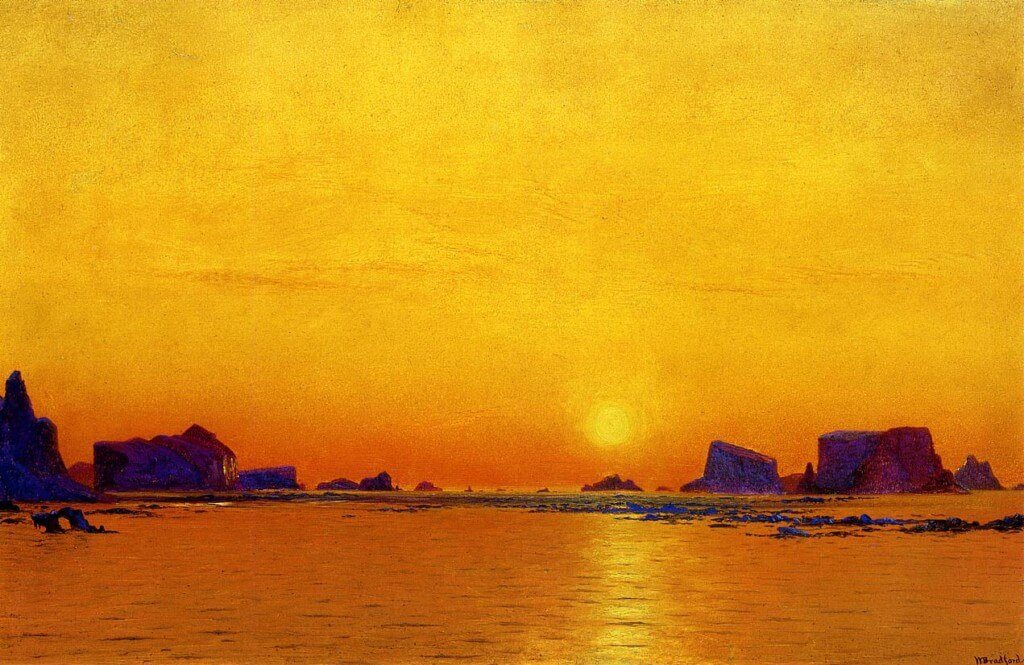 William Bradford: Ice Floes Under The Midnight Sun