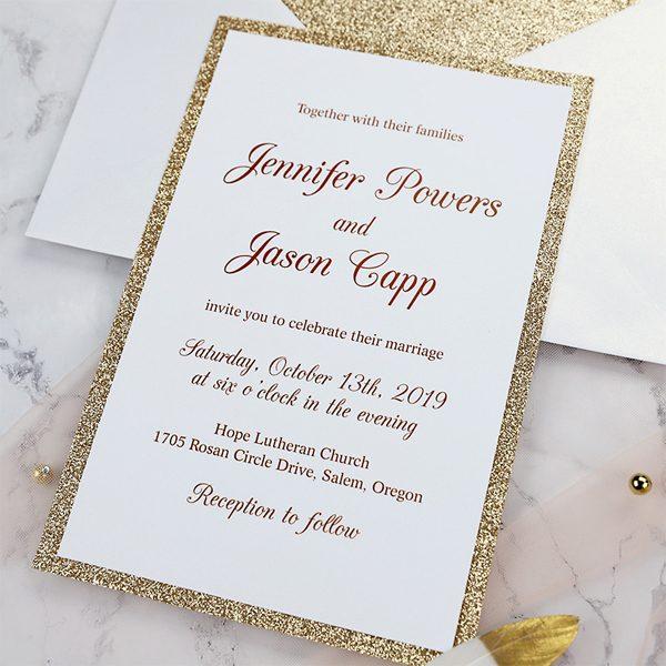 unmatched wedding invitation wording