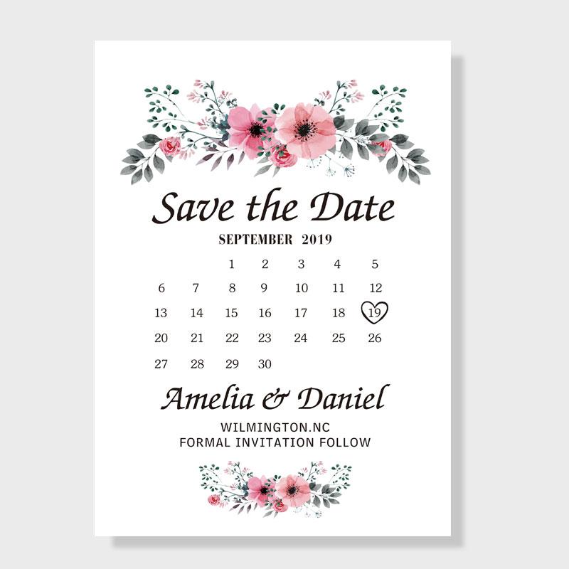 Romantic Peach Flower Save The Date Wedding Cards Pwis002 Pro Wedding Invites