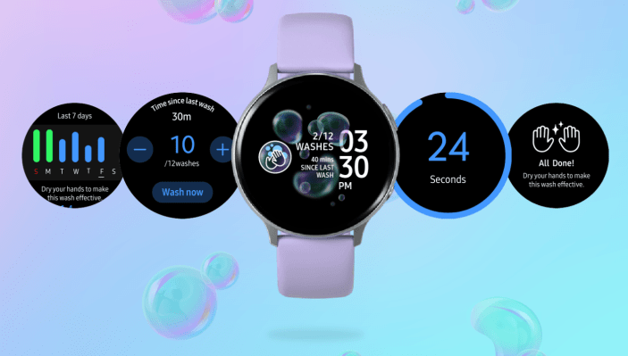 Samsung's new Galaxy Watch app reminds you to wash your damn hands, dummy – TechCrunch