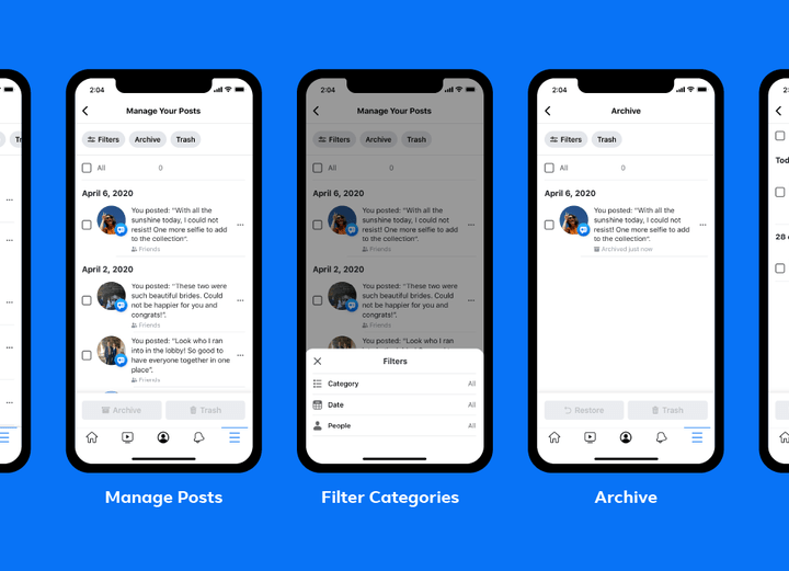 Facebook feature lets you archive or trash old or embarassing posts