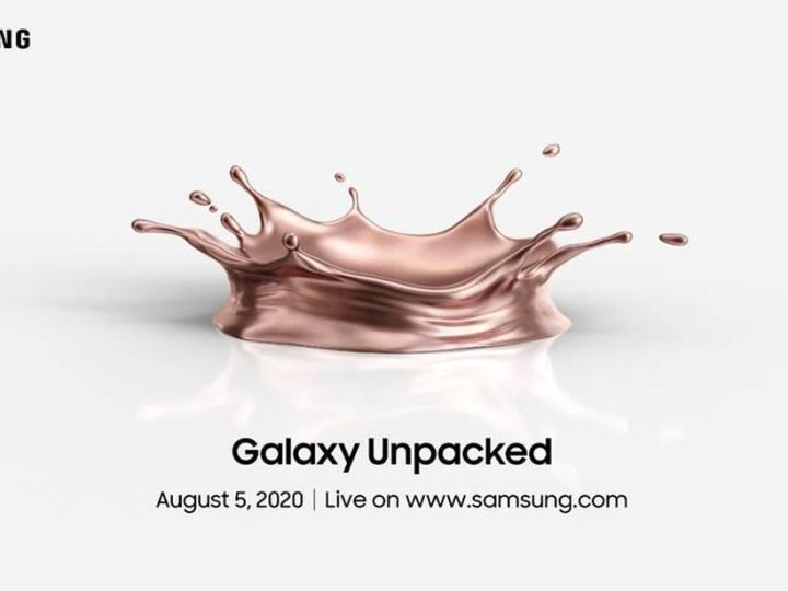 Samsung will unveil Note 20, Galaxy Z Fold 2 on Aug. 5 in virtual Unpacked
