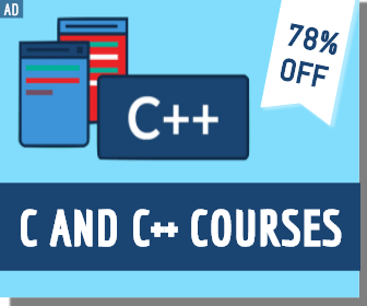 C AND C ++ COURSE SQUARE BANNER