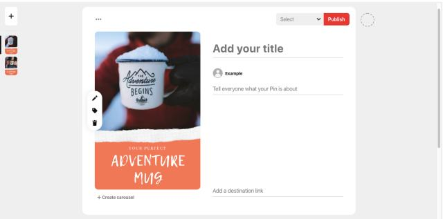pinterest a / b test ad example (b)