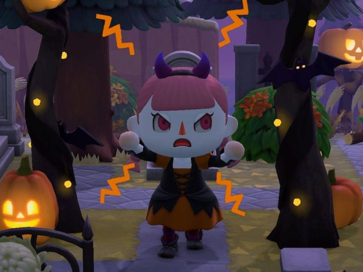 Animal Crossing: New Horizons' spooky Halloween event begins after fall update.