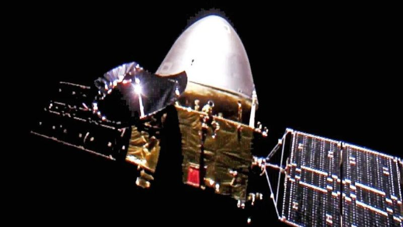 Here's the first 'selfie' of China's Tianwen-1 spacecraft on its way to Mars