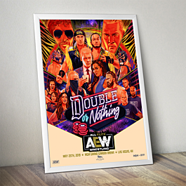 Official Aew Commemorative Double Or Nothing Poster