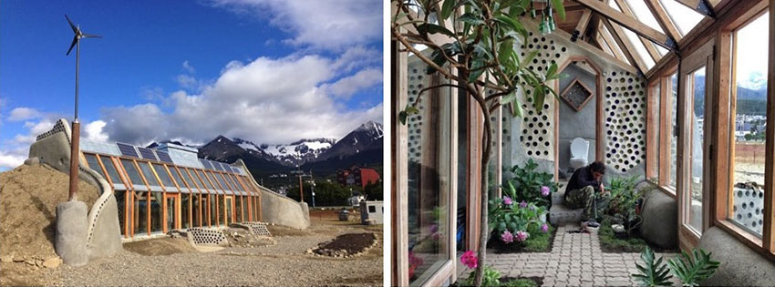 ejemplos de bioconstrucción: casa earthship