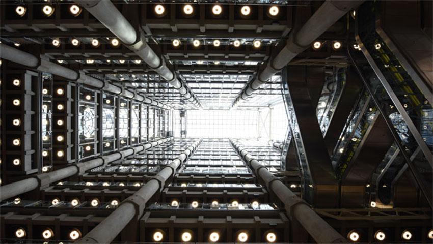 iconos del skyline de Londres: edificio Lloyd´s