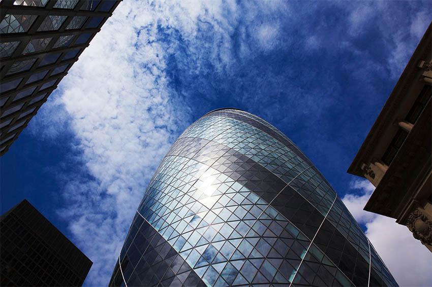 iconos del skyline de Londres: el Gherkin