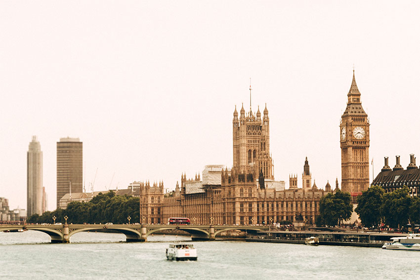 iconos del skyline de Londres: Westminster
