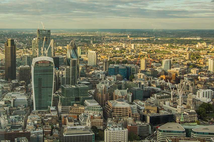 edificios con las mejores vistas de Londres-vistas de la city desde el shard