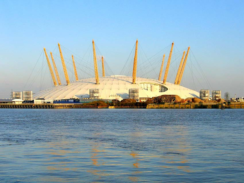 edificios con las mejores vistas de Londres- carpa millennium O2
