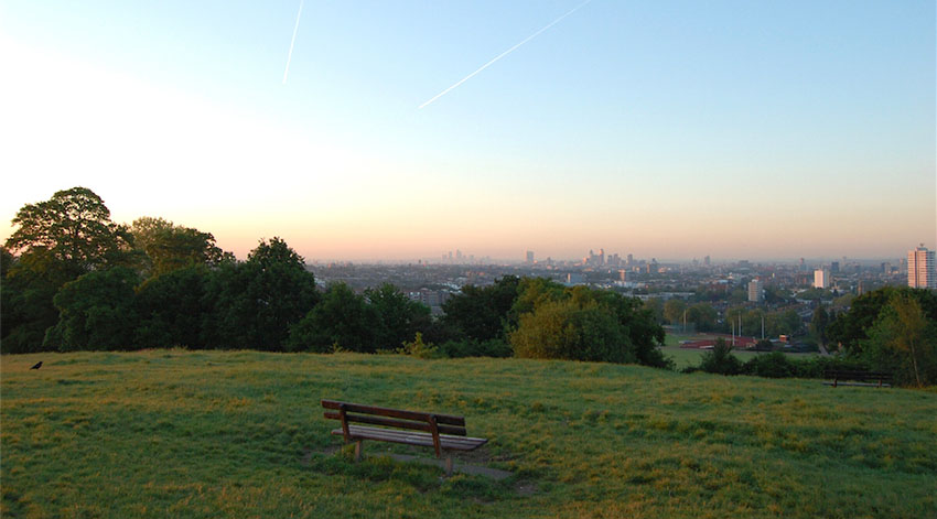 edificios con las mejores vistas de Londres-vistas desde parliament hill en hampsted heath