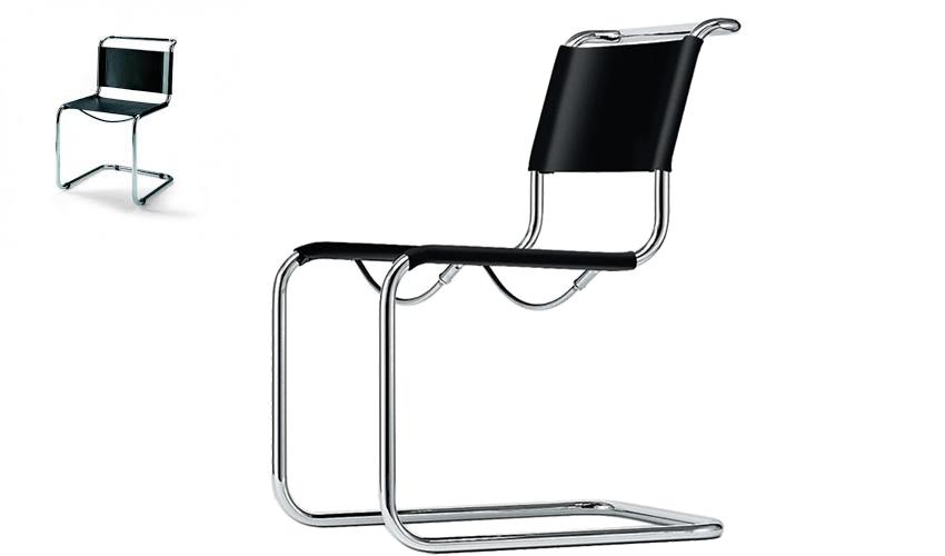 mobiliario diseñado por arquitectos: Silla Cantilever de Mart Stam