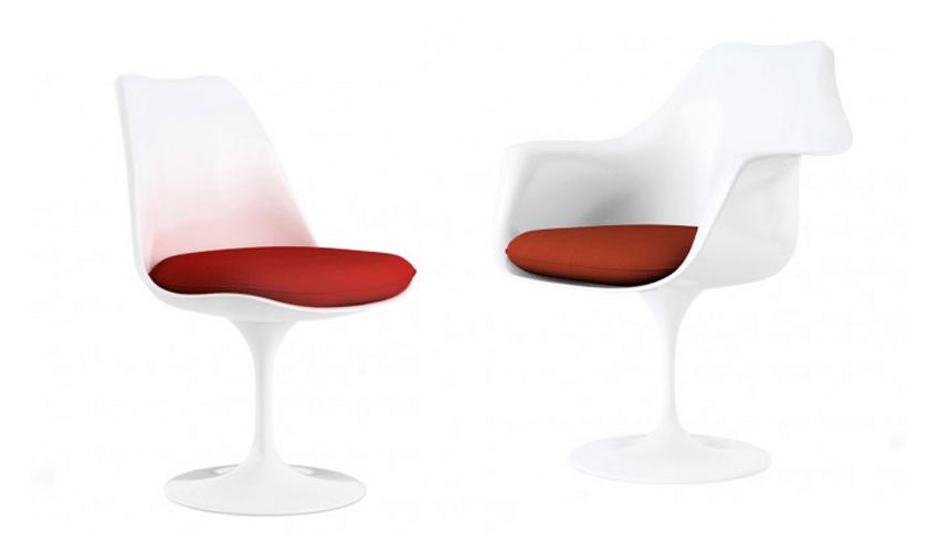 mobiliario diseñado por arquitectos: Silla Tulip de Eero Saarinen