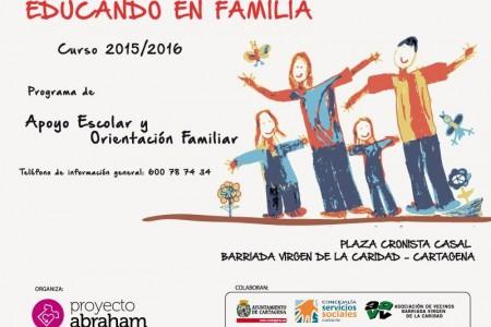 Cartel educando en familia