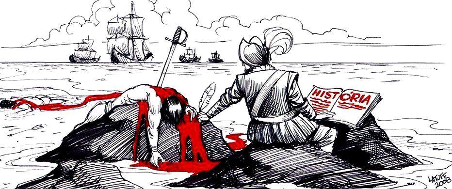 12 de octubre, nada para festejar. Autor: Carlos Latuff