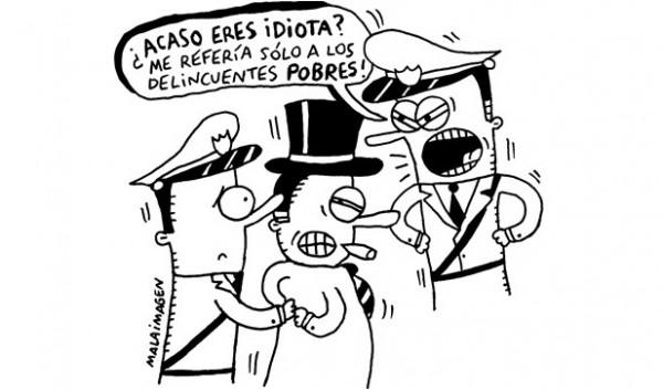 ¿Acaso eres idiota?, por Malaimagen