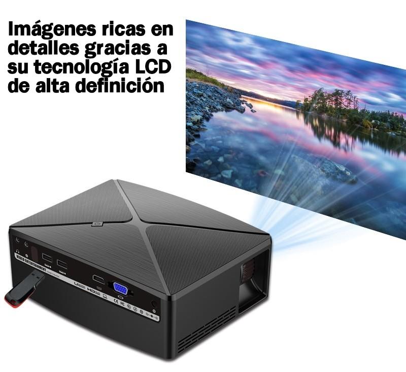 imágenes ricas en detalle gracias a su tecnología LCD de alta definición