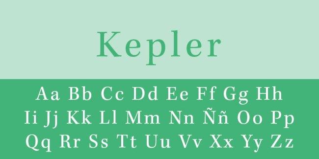 fuente tipográfica kepler