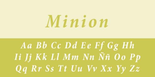 tipo de letra minion