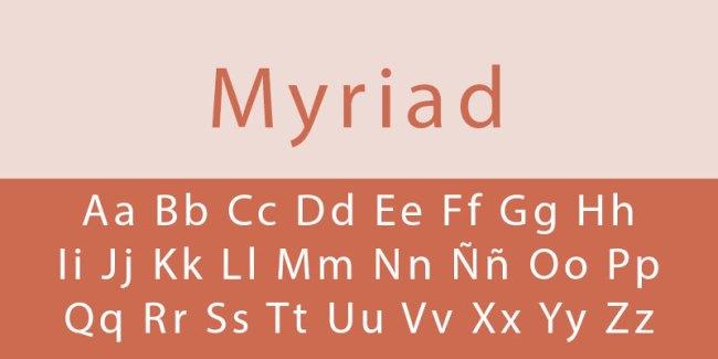 tipo de letra myriad
