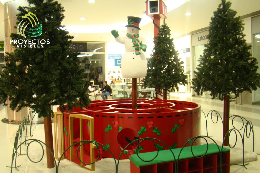 ideas decoracion navidad, laberinto para niños