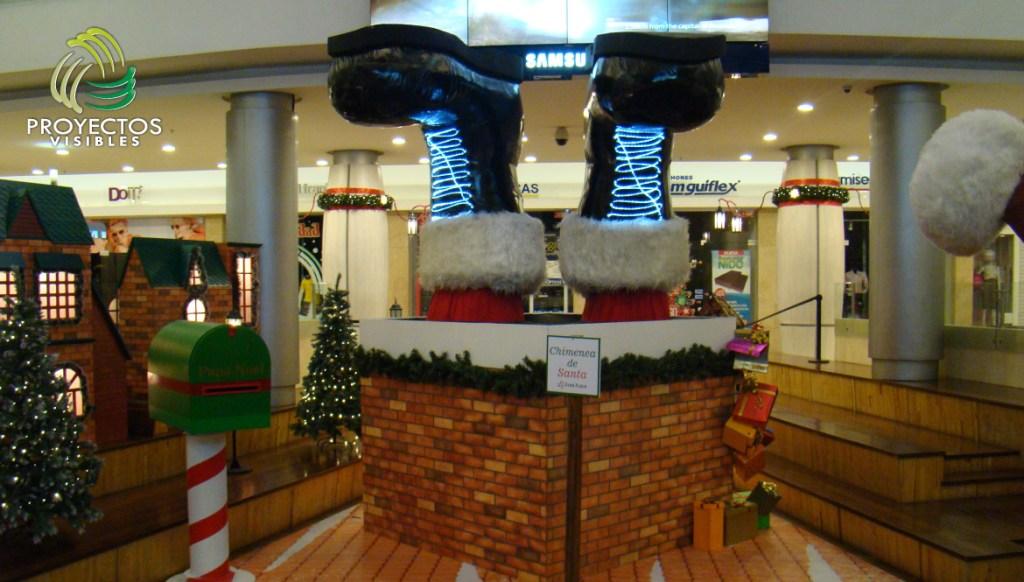 Escenario-Navidad-chimenea-de-Santa