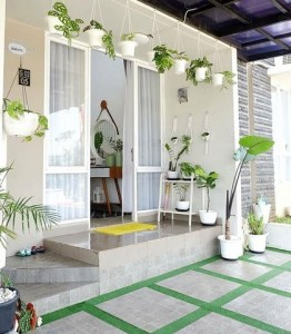 model teras rumah sederhana elegan