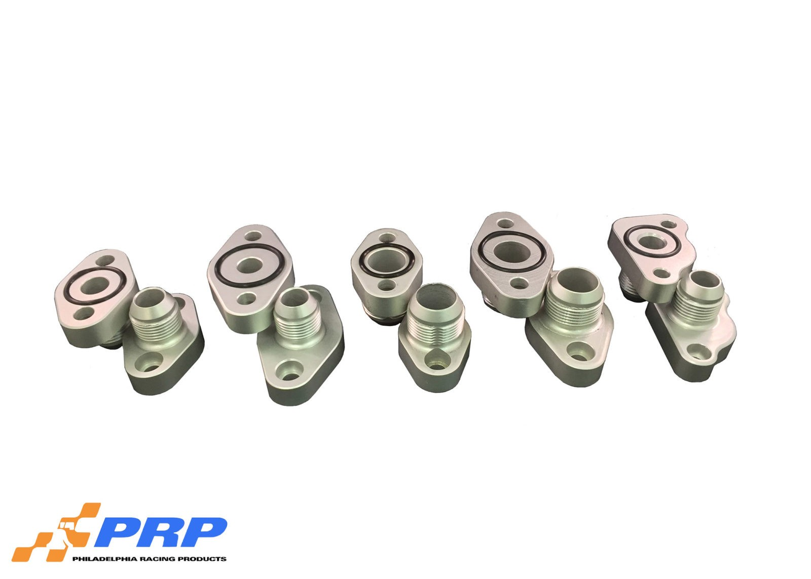 Clear AN Block Adapters made by PRP Racing Products
