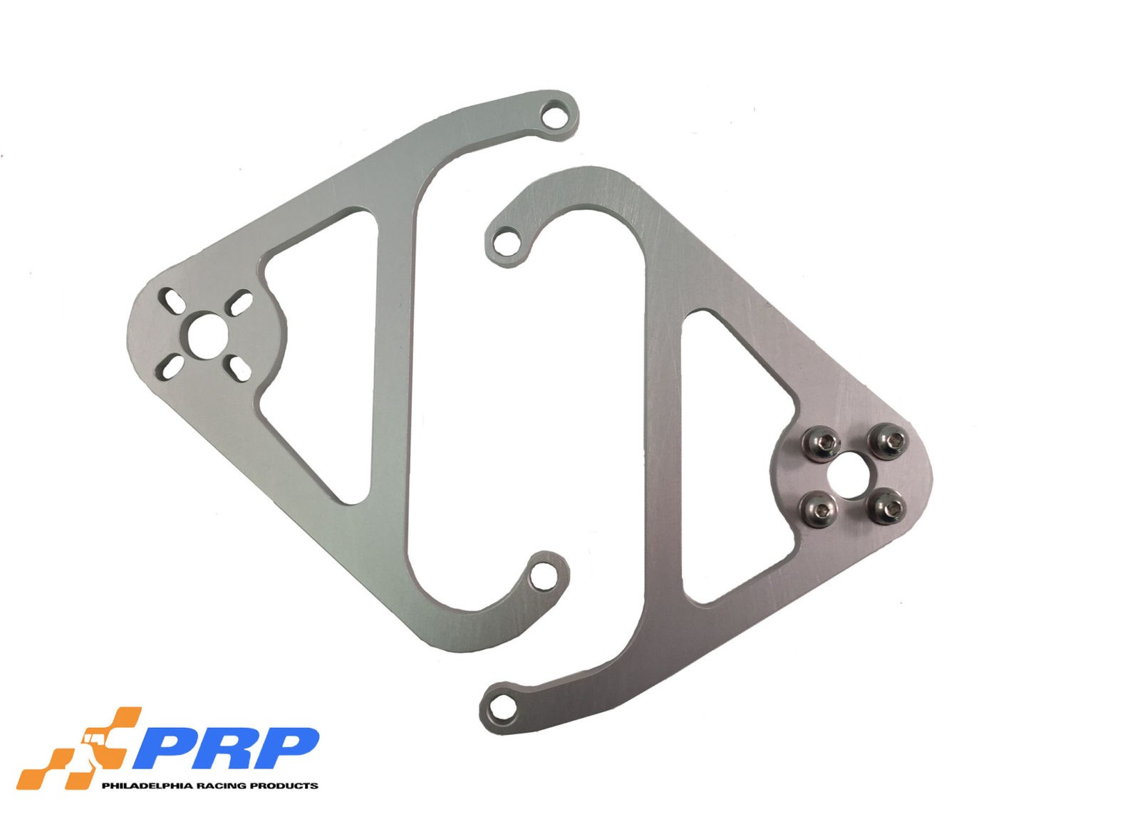 Clear Nitrous Valve Mounting Brackets made by PRP Racing Products