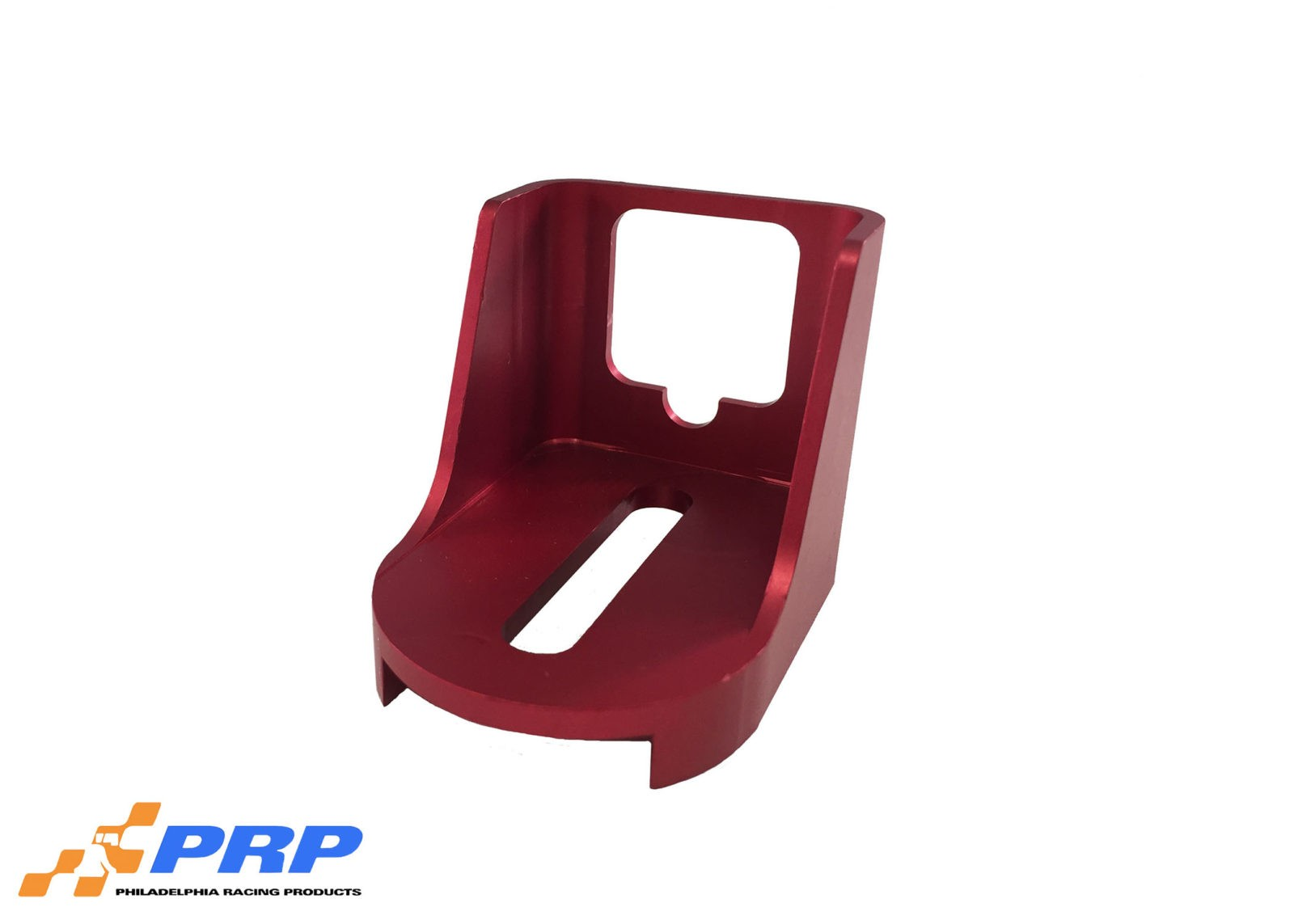 Red GM Kickdown Detent Cable Bracket made by PRP Racing Products