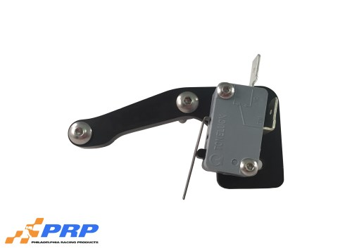 Black and Silver Micro Switch Mounting Bracketsmade by PRP Racing Products