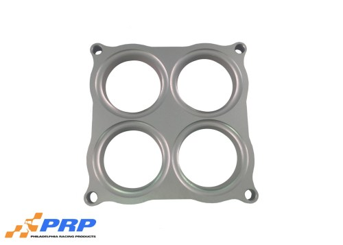 "Clear 2.125"" Bore Holley 4500 Style Shear Plate made by PRP Racing Products"