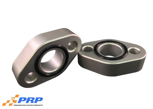 "Clear SBC 3/4"" water pump spacer made by PRP Racing Products"