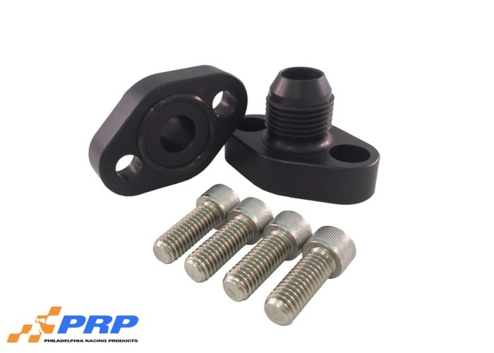 Black SBC 12AN Block Adapters made by PRP Racing Products