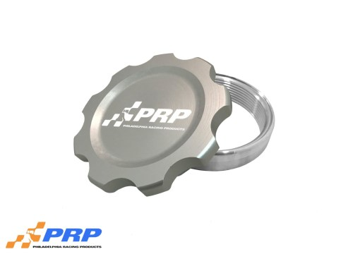 Clear Anodized large Filler Cap Kit made by PRP Racing Products