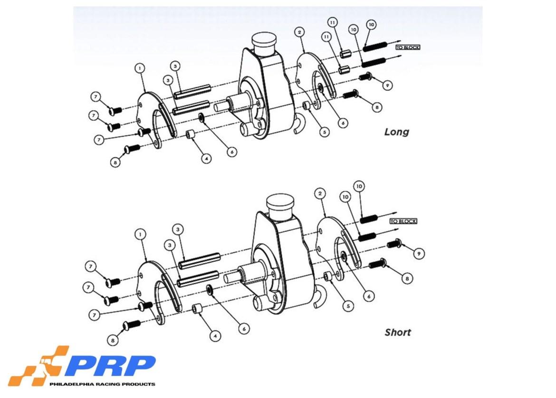 Big End Performance 50155 Sbc Billet Power Steering Long Pump Mounting Bracket Kit