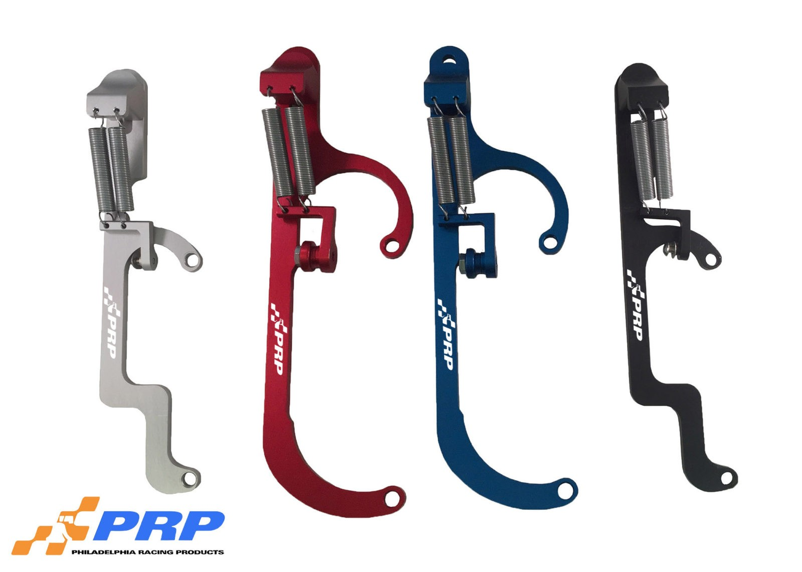 Return Bracket Group: Clear, Red, Blue and Black anodized. 4150 and 4500 carb made by PRP racing products