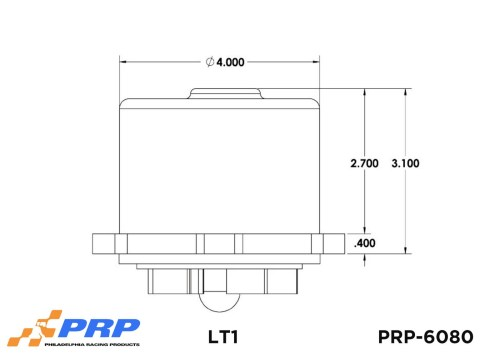 LT1 Electric Water Pump Sizing Graphic Made By PRP Racing Products