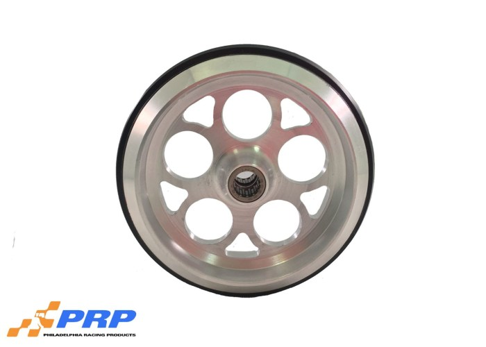 Clear Wheelie Bar Wheel Hole Style with bearing made by PRP Racing Products