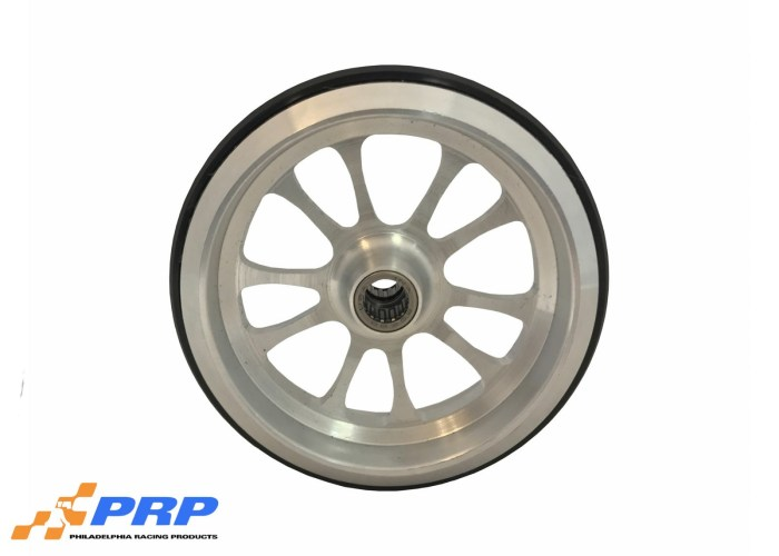Clear Wheelie Bar Wheel 10 Spoke Style with bearing made by PRP Racing Products