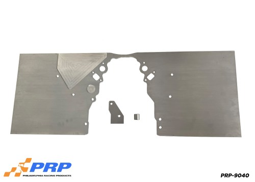Silver LS Front Motor Plate made by PRP Racing Products Front View